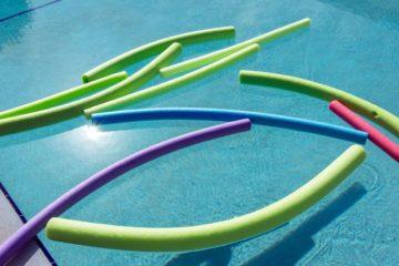 Pool Noodles floating in Pool