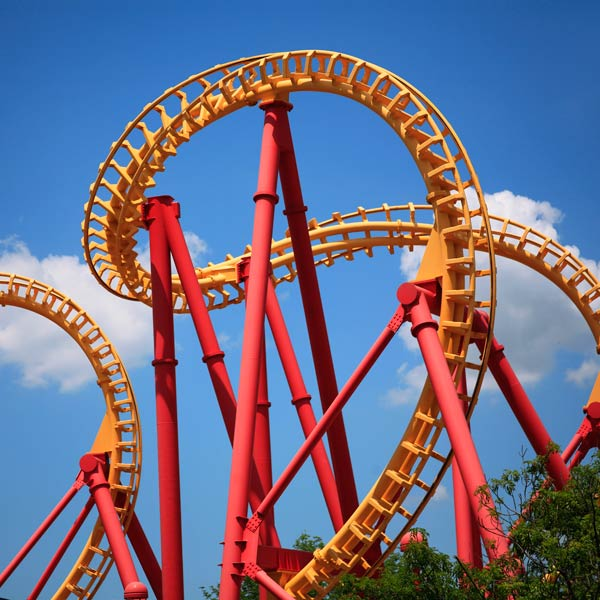 Red and Yellow Rollar Coaster